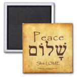 PEACE HEBREW MAGNET