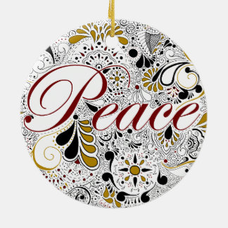 Peace Henna Design Christmas Ornament