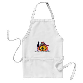 Peace Hippie Cat Apron