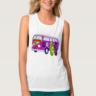 PEACE,HIPPIE TANK TOP