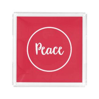 Peace   Holiday Acrylic Tray