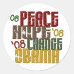Peace Hope Change Obama 1 Sticker