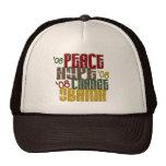Peace Hope Change Obama 1 Trucker Hats