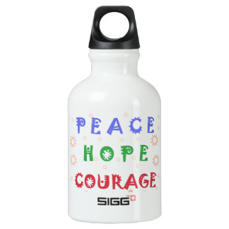 Peace Hope Courage Water Bottle
