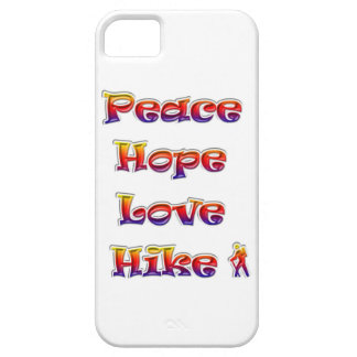 Peace Hope Love Hike! Rainbow colors! iPhone 5 Case