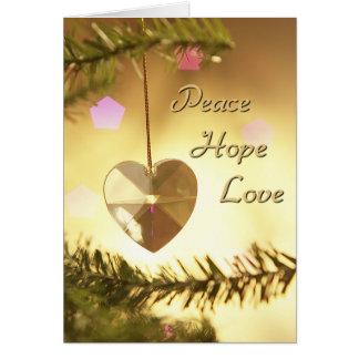 Peace Hope Love holiday card