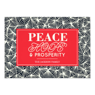 Peace, Hope & Prosperity Paper Holiday Card