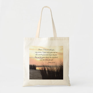 Peace I leave with you, Bible Verse Ocean Sunset