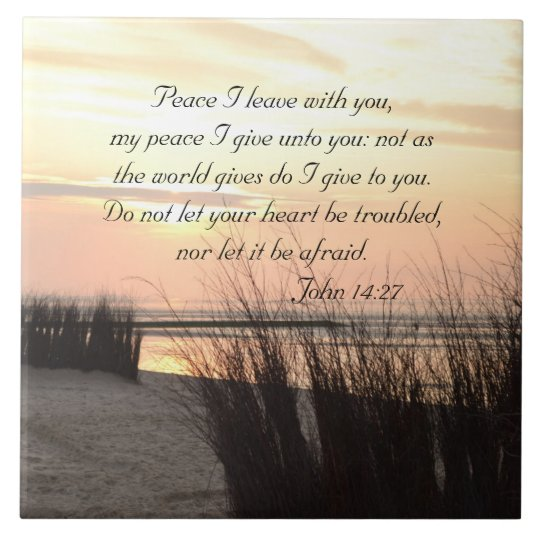 Peace I leave with you, Bible Verse Ocean