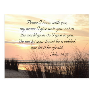 Peace I leave with you, John 14:27, Ocean Sunset Postcard