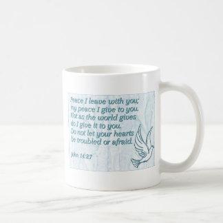 Peace I leave with you; my peace I give to you. Basic White Mug
