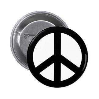 Peace icon 6 cm round badge