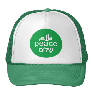 Peace in 3 Languages Cap