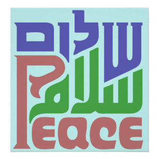 Peace in 3 Languages Poster
