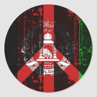 Peace In Afghanistan Classic Round Sticker