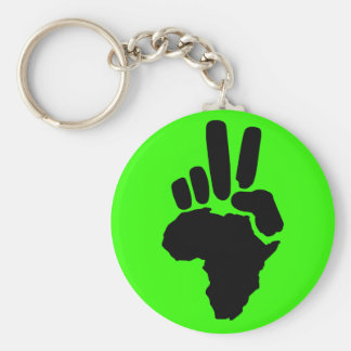 Peace in Africa Basic Round Button Key Ring