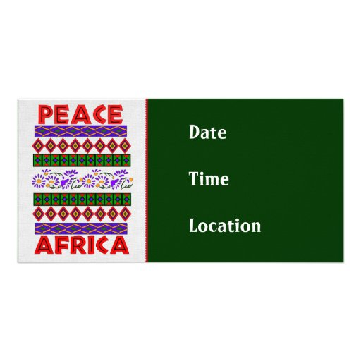 Peace In Africa Photo Card Template