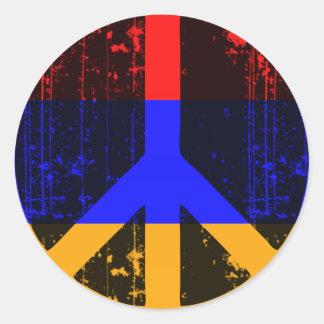 Peace In Armenia Classic Round Sticker