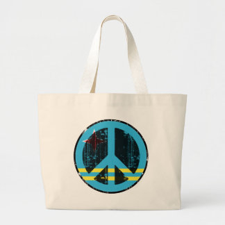 Peace In Aruba Large Tote Bag