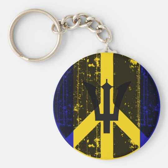 Peace In Barbados Basic Round Button Key Ring