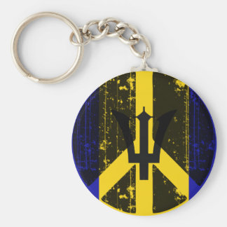 Peace In Barbados Key Ring