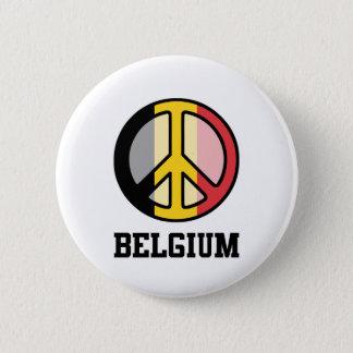 Peace In Belgium 6 Cm Round Badge