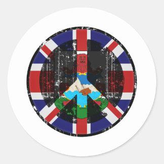 Peace In Bermuda Round Sticker