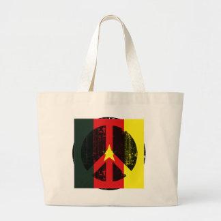 Peace In Cameroon Jumbo Tote Bag