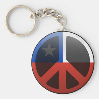 Peace in Chile Key Chains