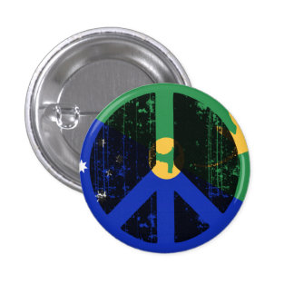 Peace In Christmas Island 3 Cm Round Badge