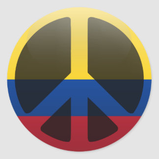 Peace in Colombia Classic Round Sticker