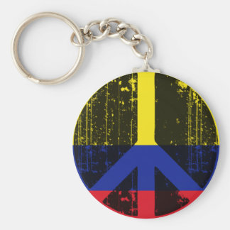 Peace In Colombia Key Ring
