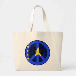 Peace In Congo Kinshasa Jumbo Tote Bag