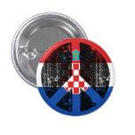 Peace In Croatia Button