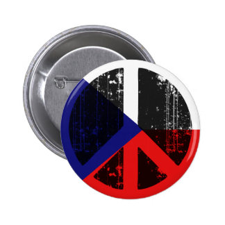 Peace In Czech 6 Cm Round Badge