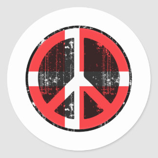 Peace In Denmark Classic Round Sticker