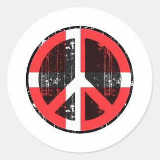Peace In Denmark Round Sticker