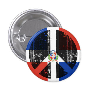Peace In Dominican Republic Pinback Buttons