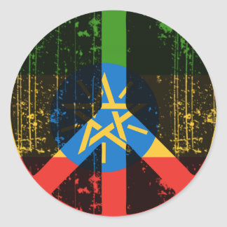 Peace In Ethiopia Classic Round Sticker