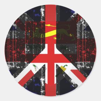 Peace In Fiji Classic Round Sticker