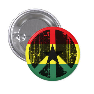 Peace In Ghana Pinback Button