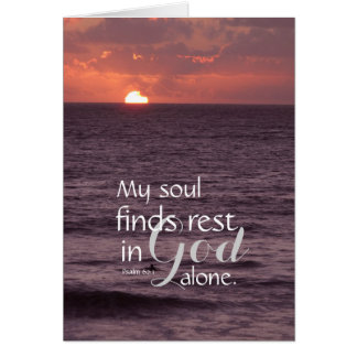 Peace in God Alone Greeting Card