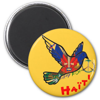 PEACE IN HAITI 6 CM ROUND MAGNET