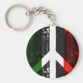 Peace In Italy Basic Round Button Key Ring