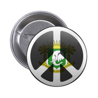 Peace in Ivory Coast Pinback Button