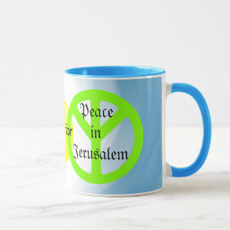 Peace in Jerusalem mug