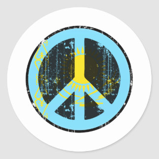 Peace In Kazakhstan Classic Round Sticker