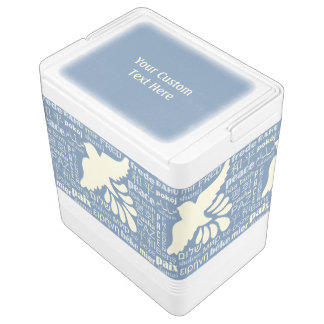 PEACE in languages custom text & color coolers Igloo Cooler