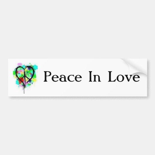 Peace In Love Bumper Sticker