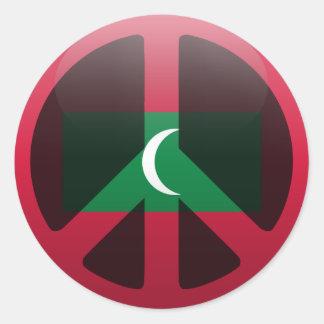 Peace in Maldives Classic Round Sticker